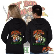 HR011F Hot Rod Fishing Zip Hoodie