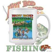 HR011WFB HOT ROD FISHING WHITE 15OZ COFFEE MUG