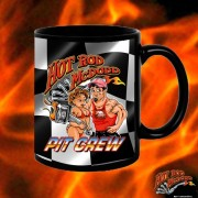 HR014BFB Hot Rod Pit Crew Black 15oz Coffee Mug`