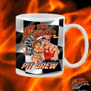 HR014WFB HOT ROD PIT CREW WHITE 15OZ COFFEE MUG