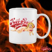 HR069WFB HOT ROD HONEYS WHITE 15OZ COFFEE MUG