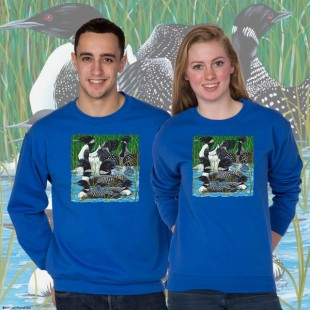 15003 Loon Part at the Lake Crewneck Sweat