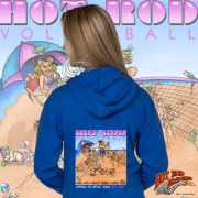 HR003B Hot Rod Volleyball Zip Hoodie