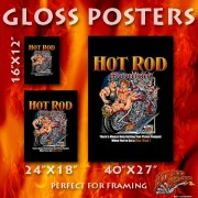 HR006B Hot Rod Motorcycles Gloss Poster 24x18