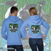 15003 Loon Party at the Lake Zip Hoodie