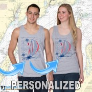 9190PND SAILBOAT BLUEPRINT TANK TOP PND