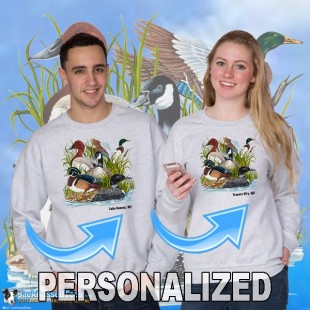15002PND Ducks Canadian Goose Crewneck Sweat Personalized