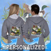15002PND Ducks Canadian Goose Zip Hoodie Personalized