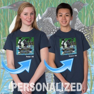 15003PND Loon Party at the Lake T-shirt Personalized