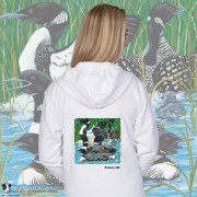 15003PND Loon Party at the Lake Zip Hoodie Personalized