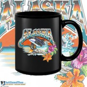 9400BFB Wild Alaska Black 15oz Coffee Mug