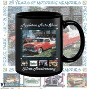 Appleton Old Car Show 2002 15oz Black Coffee Mug