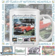 Appleton Old Car Show 2002 15oz White Coffee Mug