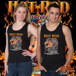 HR006B Hot Rod Motorcycle Tank Top
