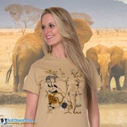 4100 Africian Endangered Wildlife T-shirt