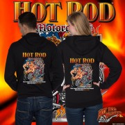 HR006B Hot Rod Motorcycle Zip Hoodie