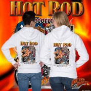 HR006BT Hot Rod Motorcycle Zip Hoodie