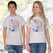 9190 Sailboat Blueprint T-shirt