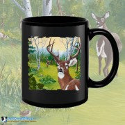 15001BFB Buck Fever Black 15oz Coffee Mug