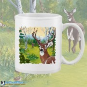 15001WFB Buck Fever White 15oz Coffee Mug