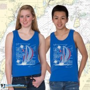 9190C SAILBOAT BLUEPRINT TANK TOP
