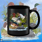 15002BFB Ducks Canadian Goose Black 15oz Coffee Mug