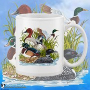 15002WFB Ducks Canadian Goose White 15oz Coffee Mug