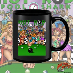 HR002BFB Hot Rod Pool Shark Black 15oz Coffee Mug