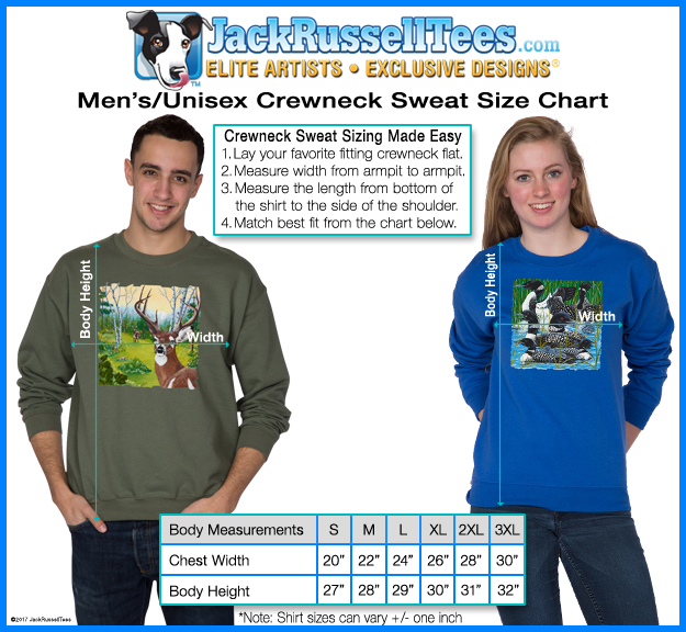 CrewNeck Sweat size chart